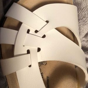 Birkenstock Shoes - White Birkenstock Sandals, Size 41, 11